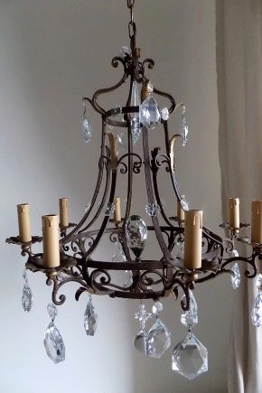 Кованые люстры, светильники Вытянутая кованая люстра Арт. ЛЮ-005 Norkovka