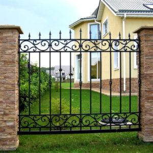 Кованые заборы Высокий кованый забор Арт. З-006 Norkovka
