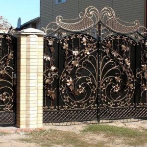 Кованые ворота Необычные кованые ворота Коннор Арт. В-015 Norkovka
